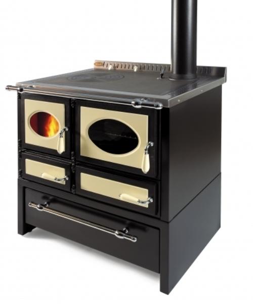 Cucina a legna ad incasso Wekos modello 80L rustica con cassettone