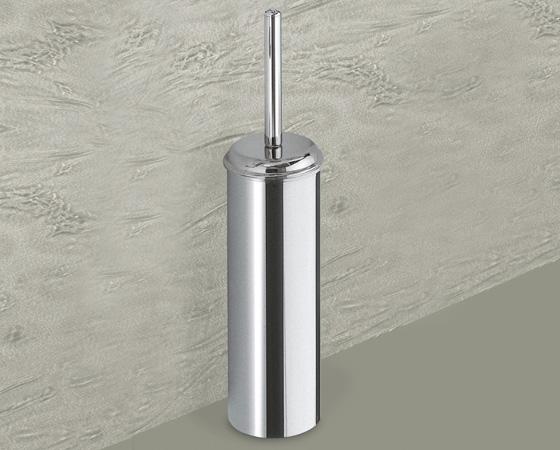 Scopino wc con ciuffo in setole acciaio inox gedy serie vermont