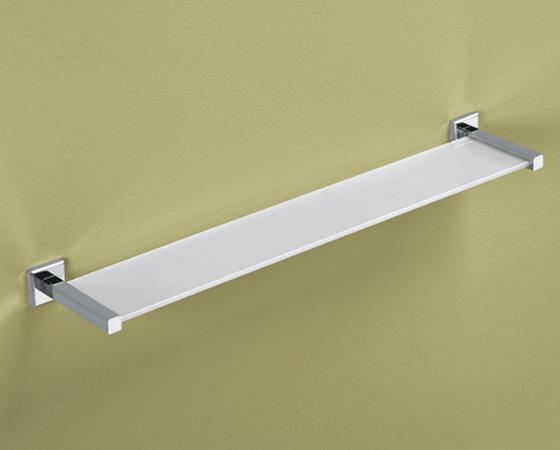 Mensola cm 60 con vetro temperato gedy serie colorado termosider ferramenta - Mensole da bagno ...
