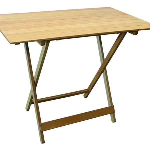 Tavolo pieghevole in legno naturale serie rodi per uso for Tavolo in legno per esterno
