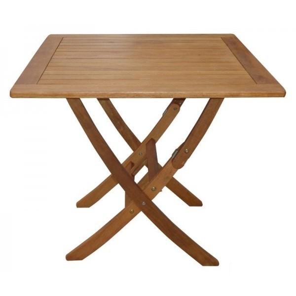 Tavolo pieghevole quadrato in legno balau mod igor - Tavolo in legno pieghevole ...