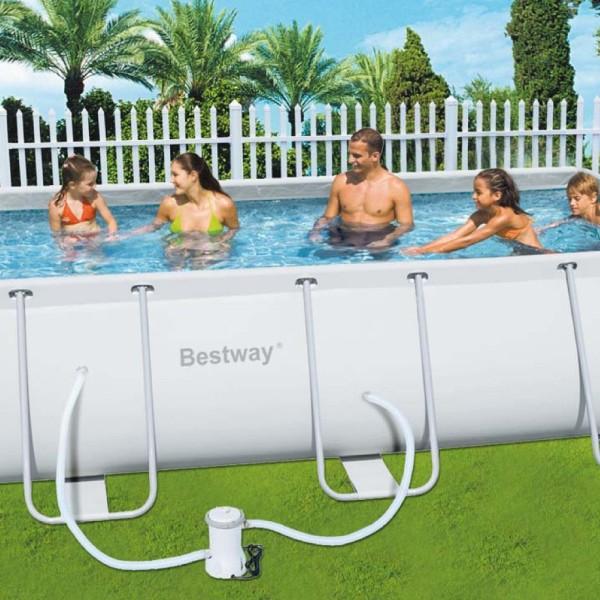 Piscina bestway con telaio esterno fuori terra cm for Accessori piscine fuori terra bestway